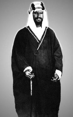 Abdul Aziz (Ibn Saud) at Thaj, 1911