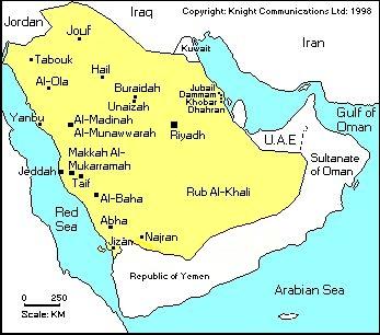 Map of KSA