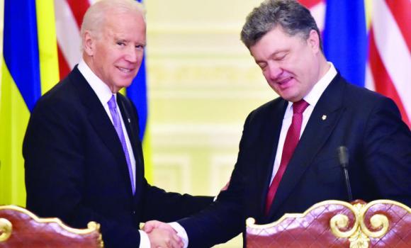 Biden in Ukraine as tensions rise