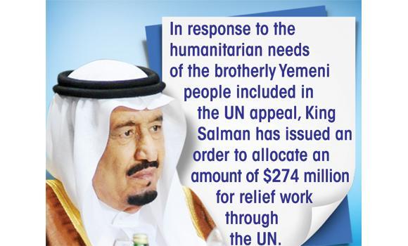Kingdom pledges $274m for Yemen