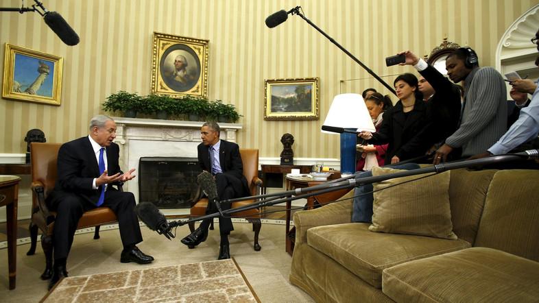 Obama meets Netanyahu at the White House in Washington.
