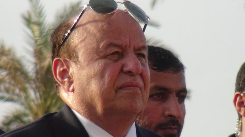 Yemen's President Abd-Rabbu Mansour Hadi in the southern port city of Aden