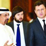 GCC energy ministers and Russian Energy Minister Alexander Novak and Khalid Al-Falih.