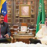Maduro meets King Salman.