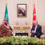 Saudi crown prince meets with Turkish prime minister